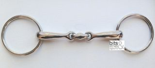 Stainless Steel Loose Ring Double Jointed Snaffle Bit