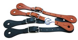 Western leather horse spur strap