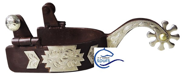 Western spurs. Hand engraved German Silver trims